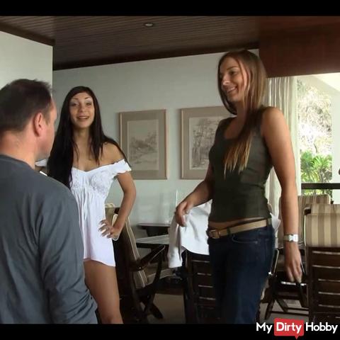 Nikki,Rahel&Morgan Face Slaps Party Madeira