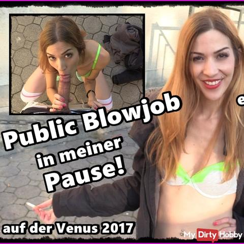 Public Blowjob on Venus Parking Lot and getting caught!