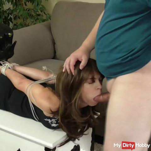 Blowjob While Sister Is Tied In The Bedroom RS