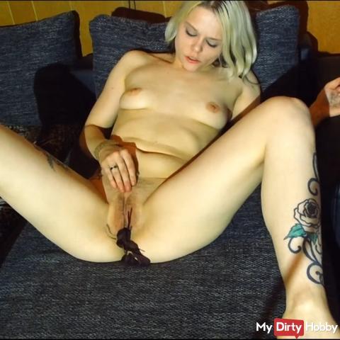 Horny with panties Masturbated