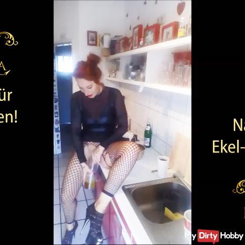 Natursekt Ekel Frühstück! Pancake für den Sklaven!   | by Lady_Demona
