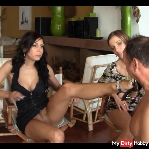 Nikki, Rachel, Morgan intimate Spit orgy of Madeira