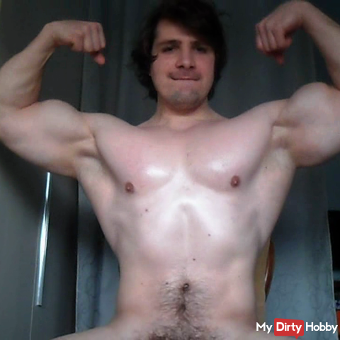 muscle flex with oil with a special final ;)