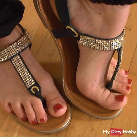 Posing in Flip-Flops