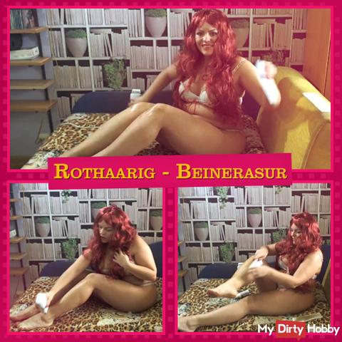 Redhead - legs shave (No sound)