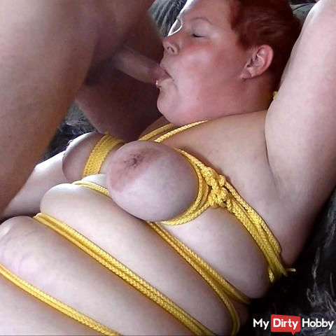 Bondage and massage burr on pussy 3