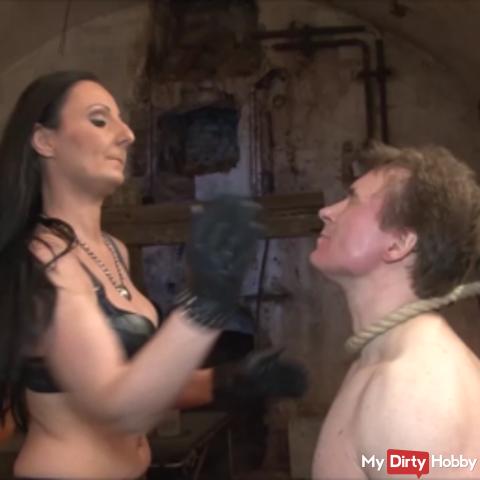 Hard slaps for the slave