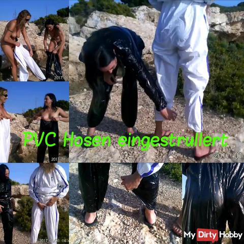 NS 4 ML: PVC pants rolled up