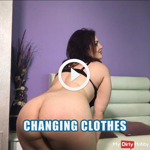 Wechselnde Kleidung, immer bereit zu gehen
