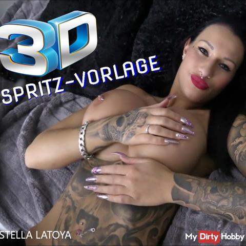 3D WICHSVORLAGE – Spritz mich voll!