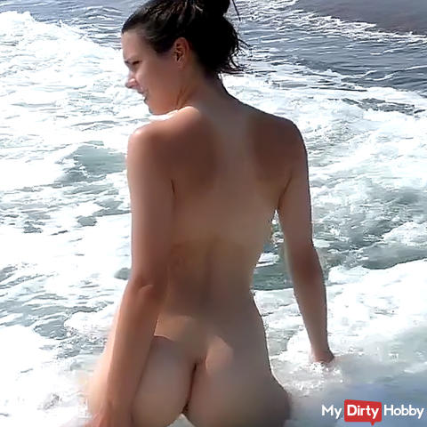 My first time, sex on the beach! In addition mega public!