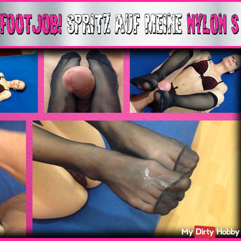 FootJob spray on my nylons
