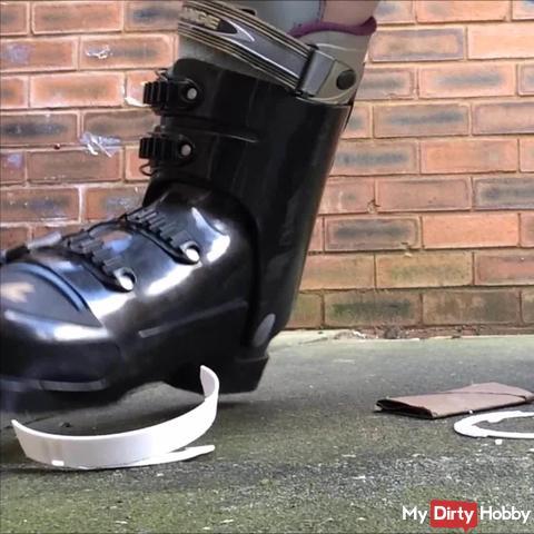 CRUSH Smoke Alarm Ski Boots Foot Fetish