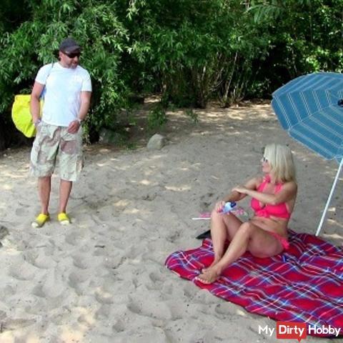 Notgeil: Spontan am Strand gefickt!!