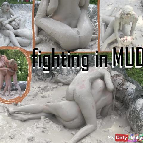 fighting in mud