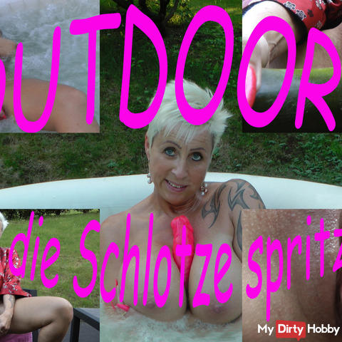 Outdoor !!! Until the slut squirts!