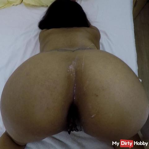 XXL cum on my hot ass
