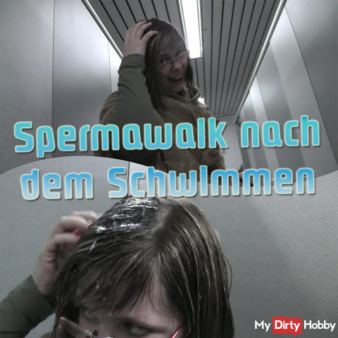 Spermawalk after swimming!