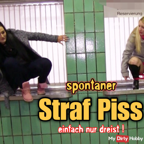 brash penis piss in the station!