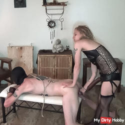 I fill his greedy pig whore asshole and bust some balls !