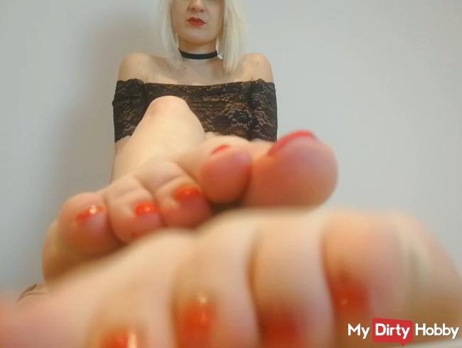 Verwöhne mir meine schönen Füße