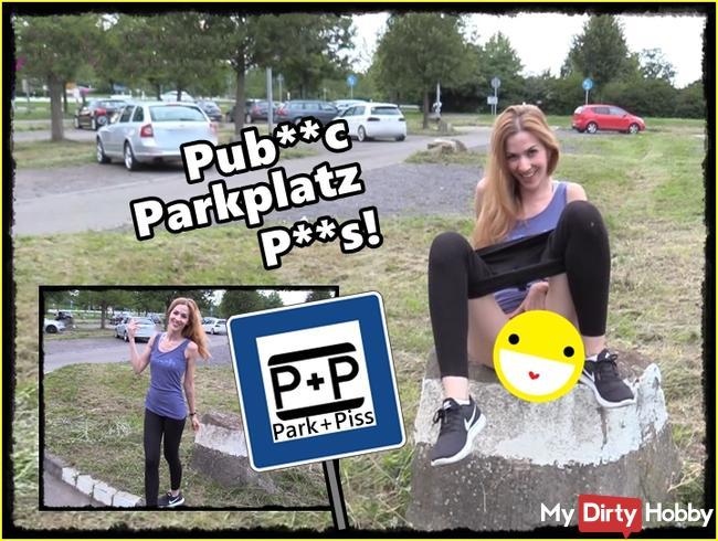 Public auf dem Parkplatz gepisst!