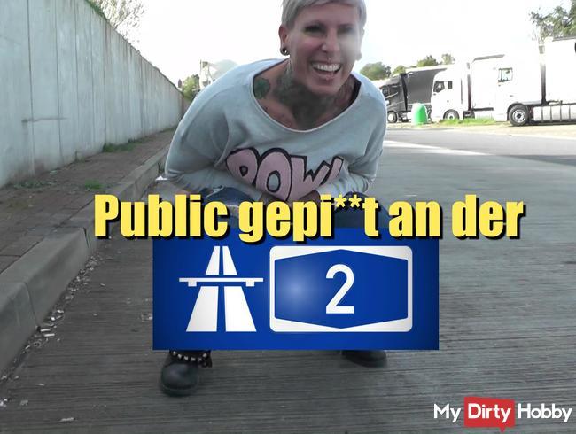 Public gepisst an der A2