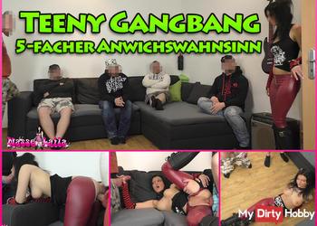 Teeny GangBang! Von 5 Typen zerfickt & vollgewichst