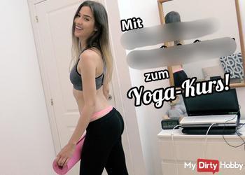 Mit vollgewichster CREAMPIE-PUSSY zum Yoga-Kurs!