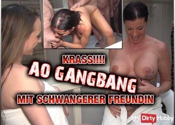 AO Gangbang mit schwangerer Freundin