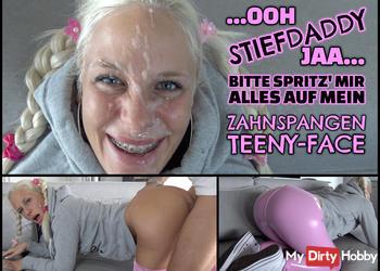 XXL TEENY FACIAL - Stiefpapas fickgeile Leggings Schlampe