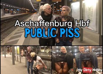 Dreister PUBLIC PISS im Hauptbahnhof   Natursekt Quelle direkt am Bahnsteig