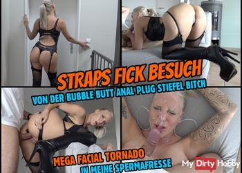 STRAPS FICK BESUCH | Mega Facial für die BubbleButt Bitch