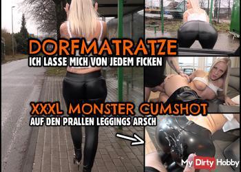 Leggings DORFMATRATZE | XXXL Cumshot auf den prallen Schlampen Arsch