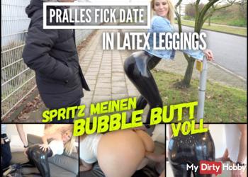 FICKDATE in praller Latex Leggings | Spritz meinen BUBBLE BUTT voll