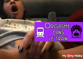 Orgasm in the train