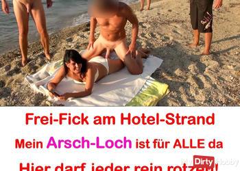 Massen-Arsch-Fick am Hotel-Strand! Frei-Fick für ALLE