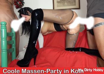 Perverse Abspritzparty in Kölner Hotel