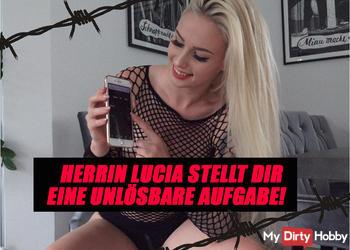 HERRIN LUCIA GIBT DIR EINE UNLÖSBARE AUFGABE! - WIE SCHNELL BIST DU, DRECKSSAU?