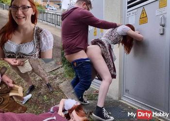 Perverse Spanner beobachten heimlichen Sex am BHF!