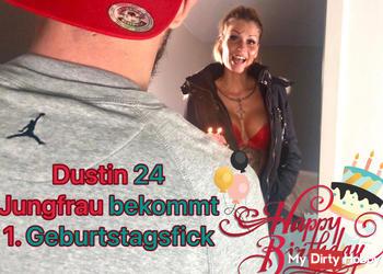 Dustin 24 JUNGFRAU  bekommt 1. Geburtstagsfick