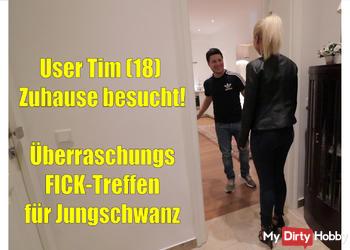 User Tim (18) Zuhause besucht! Überraschungs-Ficktreffen!