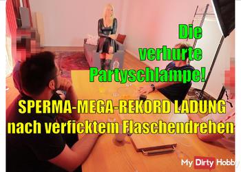 Sperma-Mega-Rekord nach verficktem Flaschendrehen!