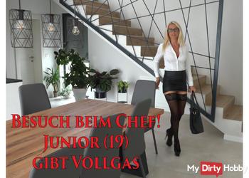 Besuch beim Chef | Junior (19) gibt VOLLGAS! XXXL Spermafresse!