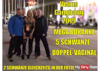 Venus Gangbang 2019 | 5 Schwänze inkl. Doppel-Vaginal und MEGA Bukkake!!!