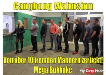 Gangbang Rekord 2019! Fickwahnsinn mit über 10 fremden Männern | Mega Bukkake!