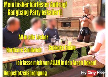 Mein bisher HÄRTESTER Auftrag | Gangbang Bukkake-Anal-Party eskaliert EXTREM!!!