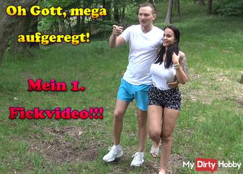 Oh Gott, mega aufgeregt! Mein 1. Fickvideo!!!