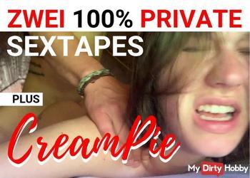 2 100% PRIVATE SEXTAPES! PLUS CREAMPIE! AO!
