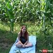 Missy in the corn field